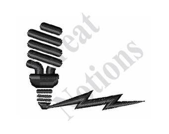Electricity Icon - Machine Embroidery Design