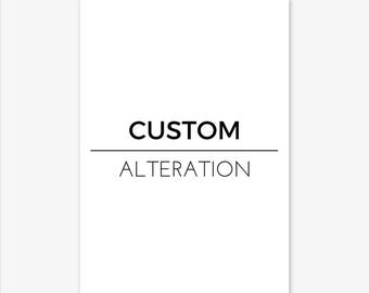 Custom Alteration, Custom Print, Custom Printable, Custom Art, Custom Wall Art, Personalised Print, Personalised Wall Art