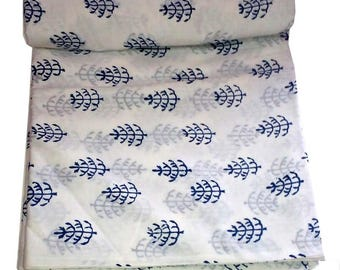 10 yard Indian Hand Block Printed Cotton Fabric Beautiful Dressmaking Running Cotton Soft voile Sewing garment dress Craft Home interior