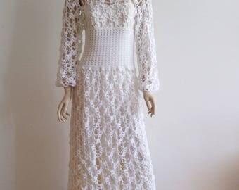 crochet wedding dress