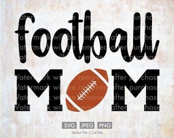 Football Mom - Vector / Cut File, Silhouette, Cricut, SVG, PNG, JPEG, Clip Art, Stock Photo, Download, Cursive, Sports, Team, Player, Games