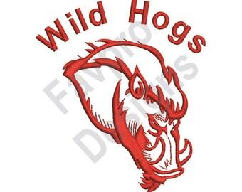 Wild Hogs - Machine Embroidery Design