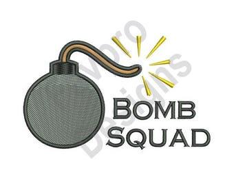 Bomb Squad - Machine Embroidery Design