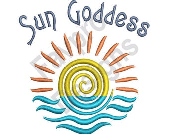 Sun Goddess - Machine Embroidery Design