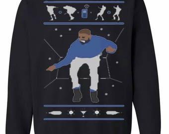 Drake 1800 Hotline Bling Sweater Christmas Sweatshirt Xmas Crewneck