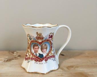 HRH Prince Charles and Lady Diana 1981 Commemorative Royal Wedding Mug