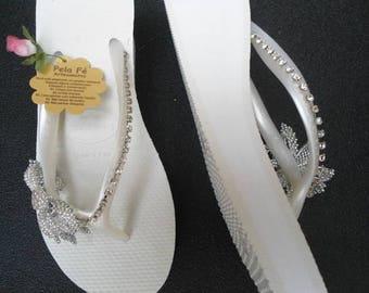 Havaianas embroidered slipper sandal, custom sandal, Havaianas slipper