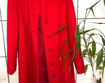 Retro Style Olivia Pope Full Length Red Peacoat! Size M/L.