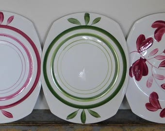 6 x Vintage 'Superior' Hand Painted Plates