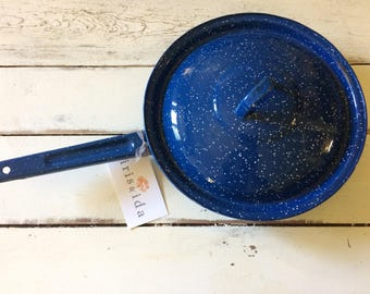 Blue Speckled Cooking Pan