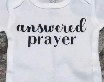 Answered Prayer Newborn Infant Onesie