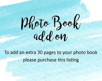 Photo Book / Guest Book - 30 Extra Pages Add On