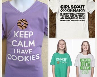 Girl Scout cookie shirt, cookie shirt, fundraising, cookie tshirt, Girl Scout cookies, cookie sale