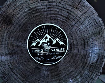 Living the vanlife decal BLACK