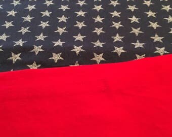 Table runner, rectangular table runner, patriotic table runner, stars, red white and blue, independence day, memorial day