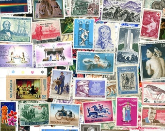 100 Vintage Worldwide Unused Stamps/ Free Shipping