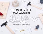 Kids DIY string art kit / STAR WARS set / Darth Vader, Millennium Falcon, r2d2, Yoda / educational toy / kids craft kit / gift for kids