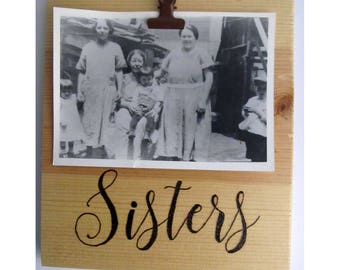 Sister frame, Sister picture frame, Rustic picture frame, Gift for sister, Sister gifts, Sister frames rustic, Wood picture frame, Sisters
