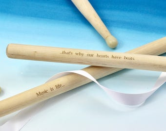 Nylon tipped Personalised Drumsticks