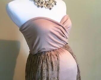 Cream Maternity Dress//Ready to ship//Maternity Dress for Photoshoot