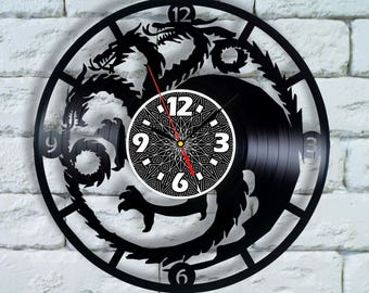 Game of Thrones gifts for men Vinyl Wall Clock decor game of thrones home decor game of thrones wedding got game of thrones fathers day gift