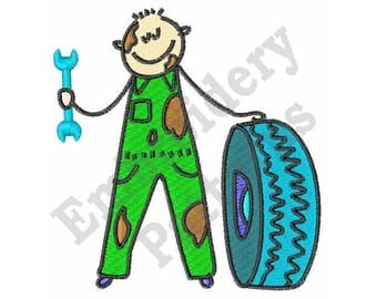 Auto Mechanic - Machine Embroidery Design
