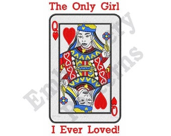Queen Of Hearts - Machine Embroidery Design