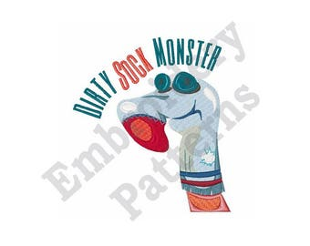 Dirty Sock Monster - Machine Embroidery Design
