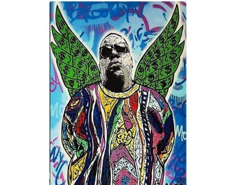 ALEC MONOPOLY Biggie  - Reprod On Paper Archival210m OR Canvas hdprint, Museum Gallery Stretched