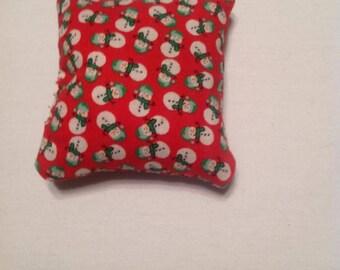 Snowmen Catnip Pillows - Choose either green or red
