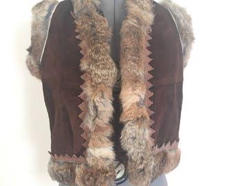 Rabbit boho vest