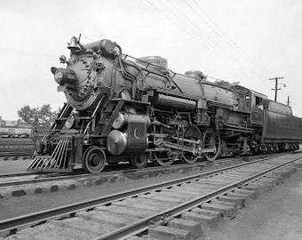 """1917 Southern Railroad, Crescent Locomotive Vintage Photograph 11"""" x 17"""" Reprint"""