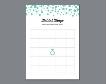 Bridal Bingo Cards Template, Empty Bridal Bingo Printable, Bachelorette Bingo, Bridal Shower Games, Instant Download, Wedding Bingo, A018