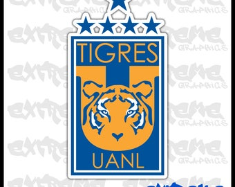 Club Tigres UANL decal sticker Calcomania Futbol liga mx Monterrey Gignac