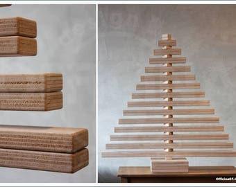 Okumè Wooden Christmas Tree
