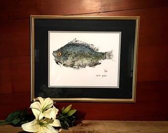 "Fish Print ""Scup"""