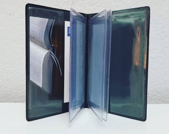 JW Contact Card holder - Smooth Faux Leather - Jehovah's Witnesses - Field Service - Publisher - Pioneer - JW Gift