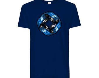 Doctor Who Police Box Tardis Infinity - Tee (Size - Large, Main Colour - Royal Blue)