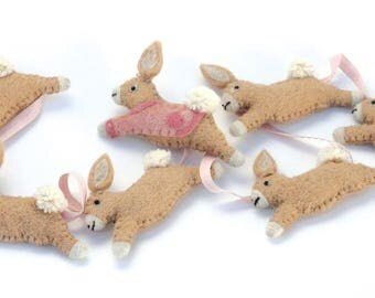 Garland beige Brown Hare felt / cotton
