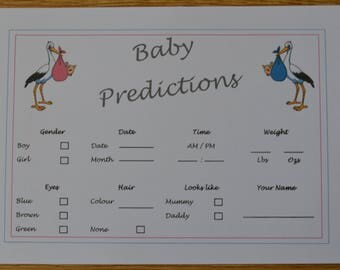Baby Predictions Cards