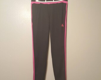 Black/Pink Striped Adidas Track Jogger Pants