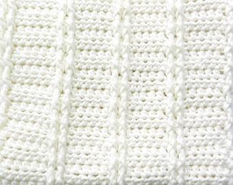 Creamy Baby Blanket Pattern- Cream-Baby Blanket Pattern