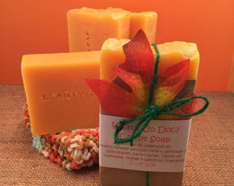 Orange and patchouli carrot soap