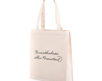 Nevertheless Bag | Recycled Canvas Tote | She Persisted Bag | Nevertheless Tote | Feminist Bag | She Persisted Tote | Feminist Tote Bag