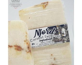 Njord , a coconut Melon salt artisan soap bar -  Vegan - PRE ORDER MODE