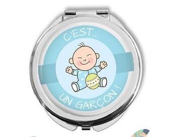 Pocket mirror it's a boy baby birth @1 pregnancy announcement