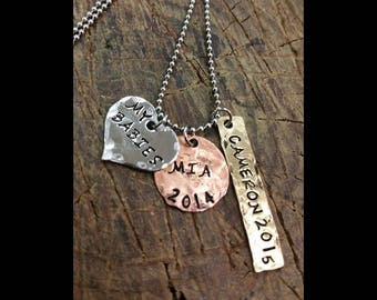 Personalized Jewelry - Hand Stamped Family Name Necklace - Gift For Her
