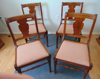 Vintage Walnut Dining Chairs