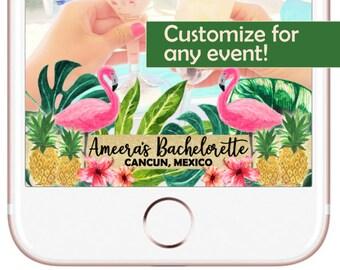 Tropical Paradise Birthday/ Bridal/Baby Shower Custom Snapchat Filter