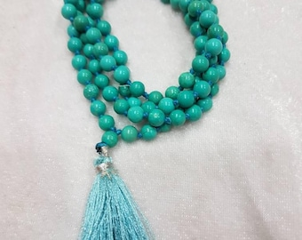 Natural turquoise beads mala